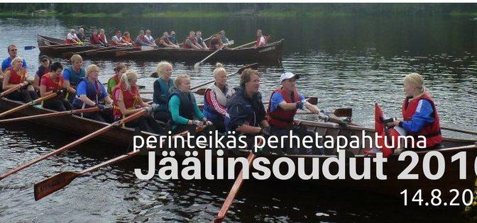 Perinteikäs perhetapahtuma: Jäälinsoudut 2016. 14.8.2016 Jäälinmajalla